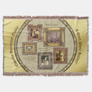 La photo d'antiquité d'antécédents familiaux couverture