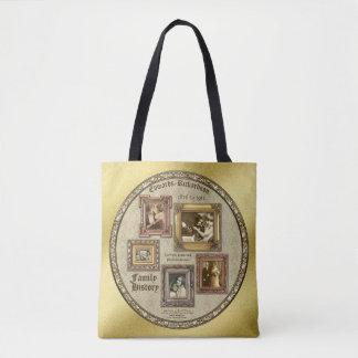 La photo d'antiquité d'antécédents familiaux sac