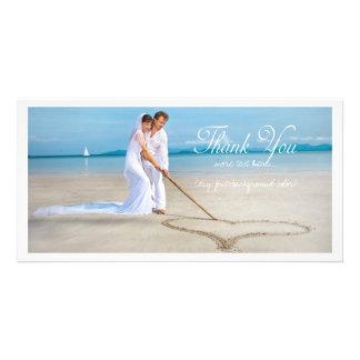 La photo de mariage de PixDezines vous remercient Photocartes Personnalisées