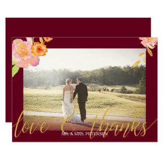 La photo florale de mariage de automne de carton d'invitation 8,89 cm x 12,70 cm