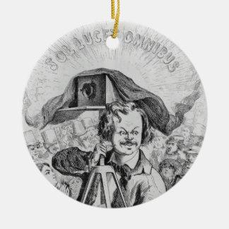 """""""La Photographie, Nadar (1820-1910) le grand (! ! Ornement Rond En Céramique"""
