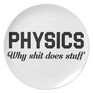 La physique bourre assiettes en mélamine