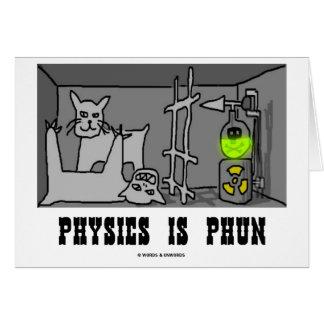 La physique est Phun (amusement) (le chat de Carte De Vœux