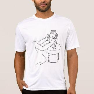 La pièce en t active des hommes de potier t-shirt