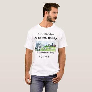 La pièce en t blanche des hommes t-shirt