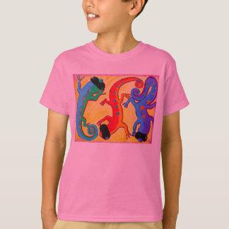 La pièce en t classique de l'enfant - lézards des t-shirt