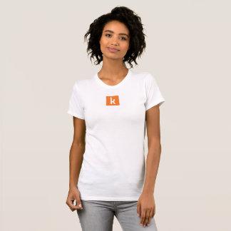 La pièce en t de femmes blanches t-shirt