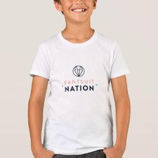La pièce en t de l'enfant de nation de Pantsuit T-shirt