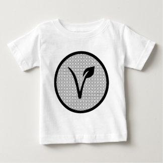 La pièce en t de végétalien de diable t-shirt pour bébé