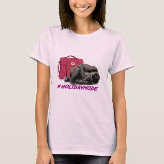 la pièce en t des dames de mode de vacances t-shirt