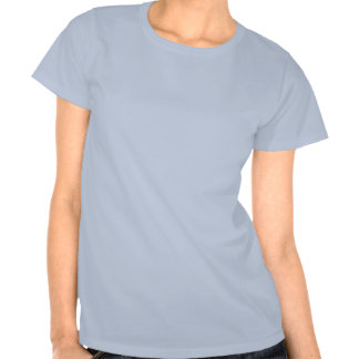 La pièce en t des femmes bleues de ciel t-shirts