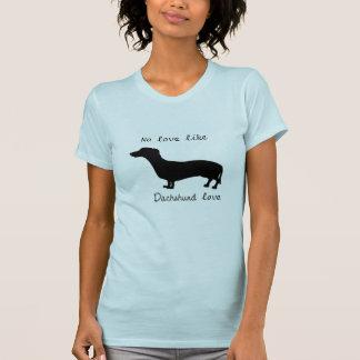 La pièce en t des femmes d'amour de basset t-shirt
