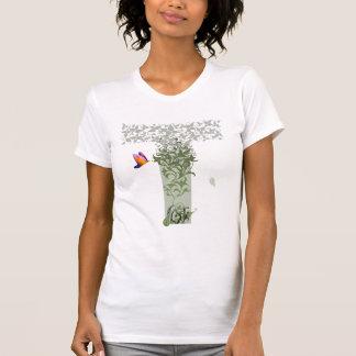 La pièce en t des femmes de pensées de détail t-shirt