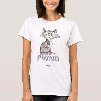 La pièce en t des femmes drôles du chat PWND T-shirt