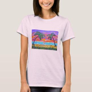 La pièce en t des femmes - paradis tropical t-shirt