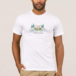 La pièce en t des hommes d'animaux de canoë t-shirt