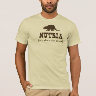 La pièce en t des hommes de dîner de Nutria T-shirt