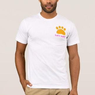 La pièce en t du marcheur de chien t-shirt