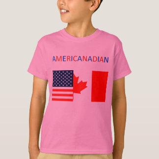 La pièce en t rose des filles d'AMERICANADIAN 2 T-shirt