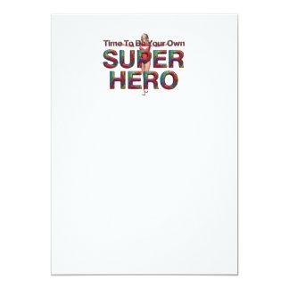 La PIÈCE EN T soit de posséder le super héros Carton D'invitation 12,7 Cm X 17,78 Cm