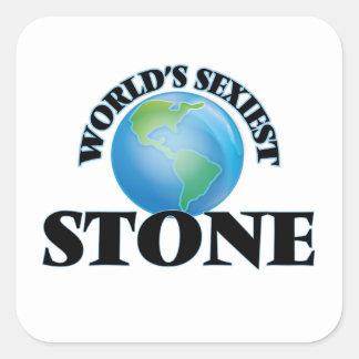 La pierre la plus sexy du monde autocollant carré