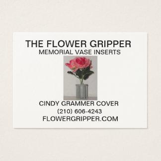 La pince de fleur cartes de visite