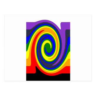 La pirouette ondule l'arc-en-ciel de couleurs, carte postale