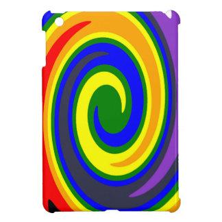 La pirouette ondule l'arc-en-ciel de couleurs, coque iPad mini