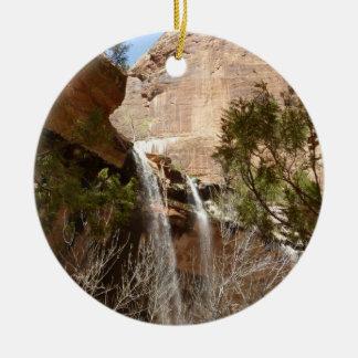 La piscine verte tombe I de parc national de Zion Ornement Rond En Céramique