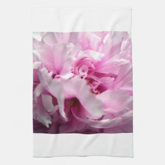 La pivoine fleurit la serviette de cuisine serviettes éponge