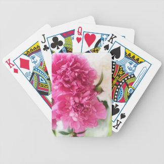 La pivoine fleurit le croquis en gros plan cartes à jouer