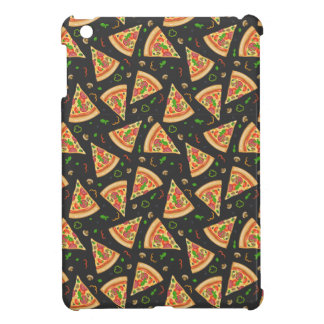 La pizza découpe l'arrière - plan en tranches coques pour iPad mini