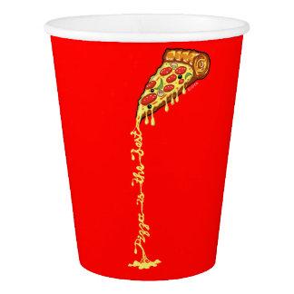 La pizza est le meilleur gobelets en papier