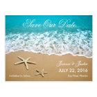 La plage avec des étoiles de mer sauvent la carte