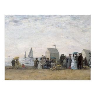 La plage chez Trouville, 1867 Carte Postale