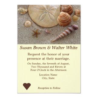 La plage écosse le faire-part de mariage de thème