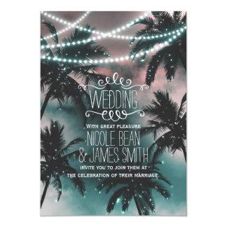 La plage enchantée de soirée de ciel nocturne carton d'invitation  12,7 cm x 17,78 cm
