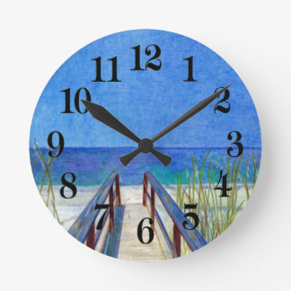 La plage horloge ronde