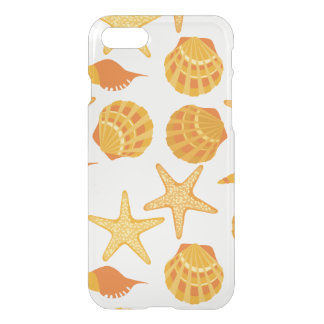 La plage orange Shell modèlent Coque iPhone 7