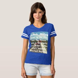 La plage ordonne la pièce en t t-shirt