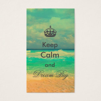 """la plage vintage """"gardent le calme et rêvent la cartes de visite"""