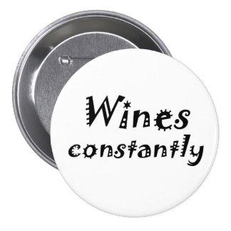 La plaisanterie drôle de vin de vin cite des badge