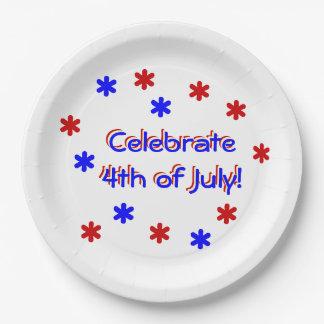 La plaque à papier - célébrez 4 juillet assiettes en papier