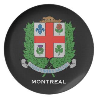 La plaque collectrice de Montreal* Assiette Pour Soirée