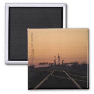 La plate-forme de lancement de Soyuz Aimant