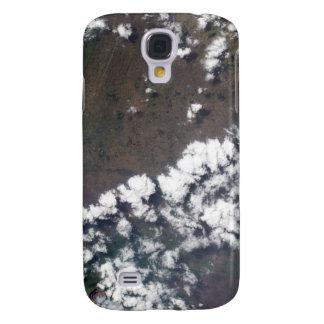 La plume se lève du volcan de Nyiragongo dans le Coque Galaxy S4