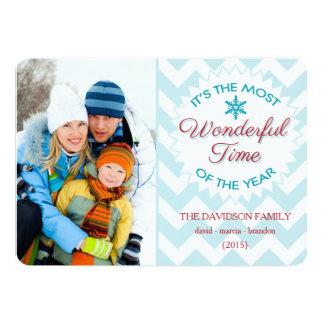 La plupart de carte plate de temps de Noël Carton D'invitation 12,7 Cm X 17,78 Cm
