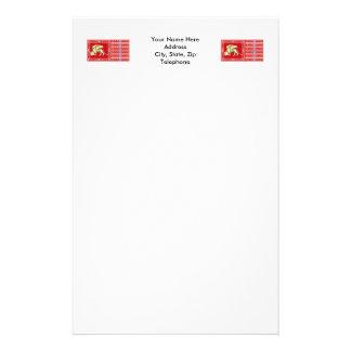 La plupart de République sereine de drapeau de Papier À Lettre Personnalisé