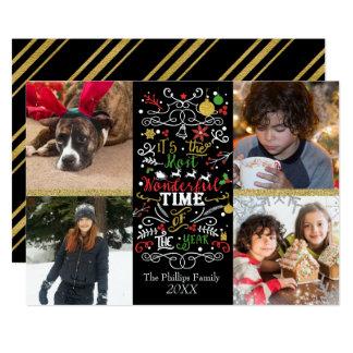 La plupart d'heure merveilleuse de Noël de photo Carton D'invitation 12,7 Cm X 17,78 Cm