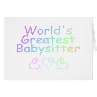 La plus grande babysitter des mondes cartes